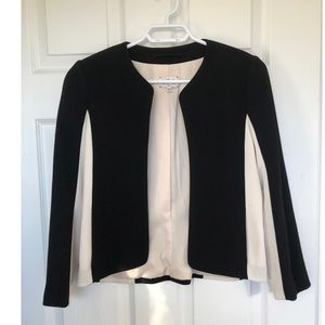 Wilfred black and white blazer